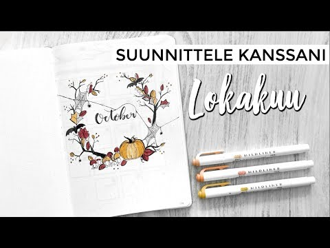 PLAN WITH ME OCTOBER 🎃🕷🖋 - Bullet Journal Suomi 2018