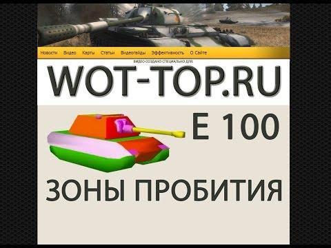 Е 100 Зоны пробития - Уязвимые