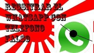 Registrar Whatsapp con Telefono Falso