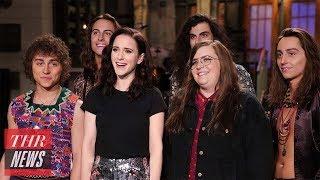 'SNL' Rewind: Rachel Brosnahan Hosts, Pete Davidson Makes Light of Suicide Scare | THR News