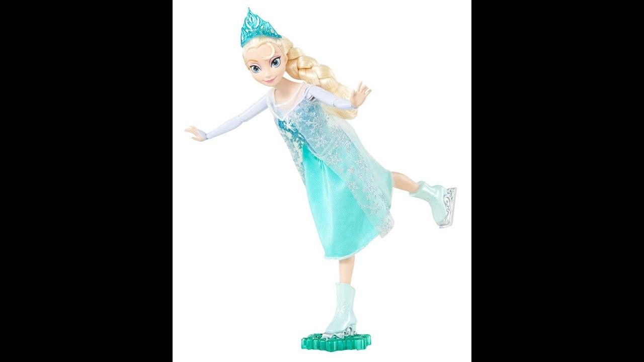 disney frozen poupe elsa la reine des neiges patinage sur glace youtube