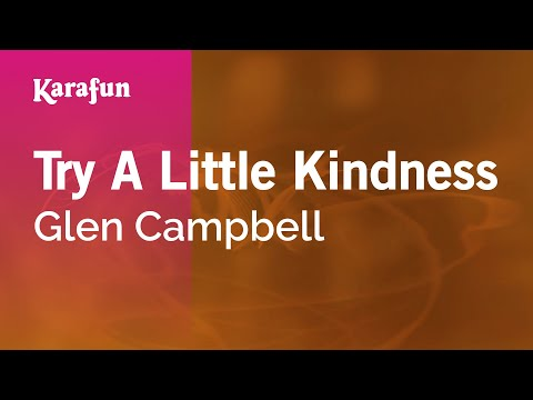 Karaoke Try A Little Kindness - Glen Campbell *