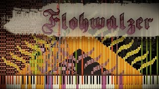 Synthesia Score: Flohwalzer / Flea Waltz | 1.7 Million | Black MIDI