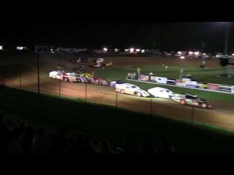 Jerry Davis and Rob Bricketts flip at Bloomington Speedway 8-26-16