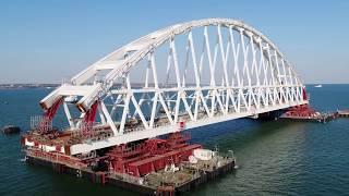 Крымский мост: первые шаги арки по морю