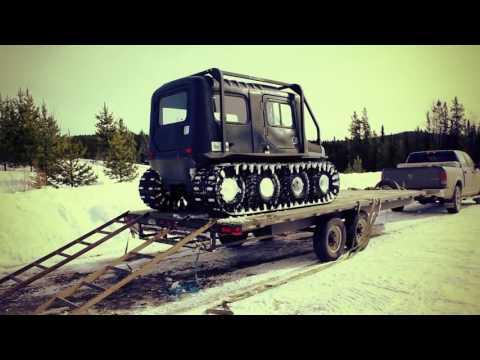 ARGO vs  Snowmobile in deep snow   Pioneer Offroad