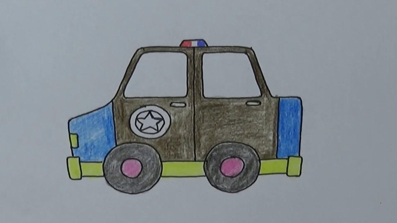 Belajar Cara Menggambar Dan Mewarnai Dengan Mudah Menggambar Mobil