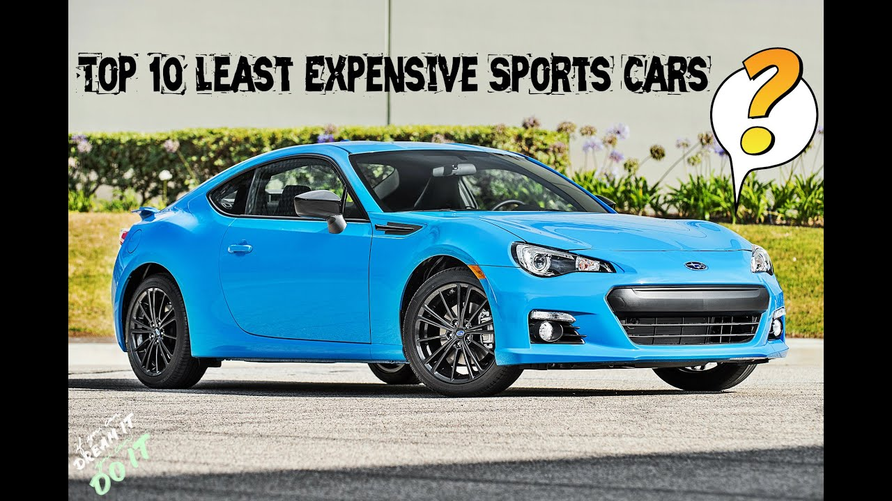 Top Cheapest Sports Cars YouTube - Best low budget sports cars