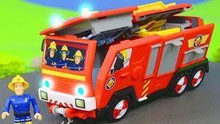 FEUERWEHRMANN SAM Unboxing: Neue 2in1 Jupiter Feuerwehrautos & Spielzeugautos für Kinder deutsch
