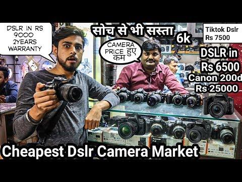 Cheapest DSLR Camera Market   Dslr Starts Rs 5000 Only   Canon , Nikon   Kucha Chodhary Dslr Market