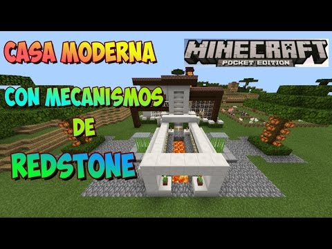 casa con mecanismos de redstone para minecraft pe On casa moderna minecraft 0 15 0