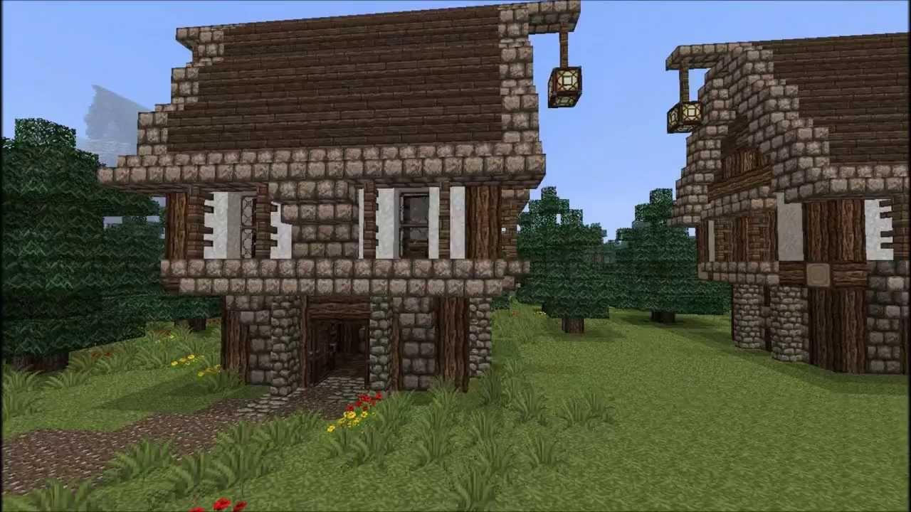 Tuto Faire Une Chaumiere Medieval Dans Minecraft