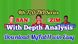 BAN vs ZIM Dream11 Predictions Bangladesh vs Zimbabwe, Bangladesh Tri Series 2019, 4th T20