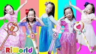 RIWON Became a Princess. Real Princess Dresses.  아빠! 공주 드레스 좀 사주세요! 리원이의 공주 드레스 놀이