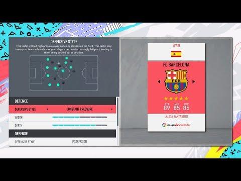 FIFA 20 TIKI -TAKA  4-3-3 CUSTOM TACTICS + PLAYER INSTRUCTIONS