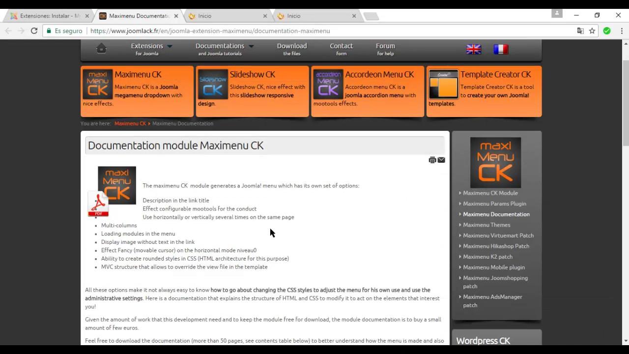 Administración de Pagina Web con Joomla 3.7 - YouTube