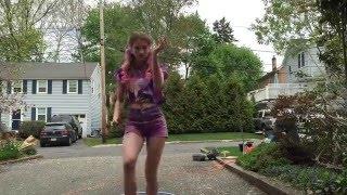 Trap music hula hoop dance