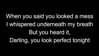 ED SHEERAN   Perfect Available in Spotify lyrics cover