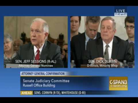 JEFF SESSIONS VS DICK DURBIN ILLEGAL IMMIGRATION jan 10 2017