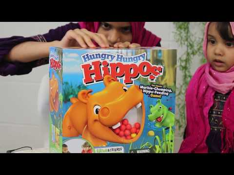 Fatima is playing with Hippo Toy with Maryam Masud