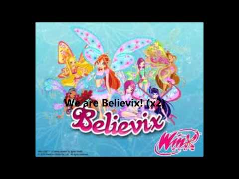 Winx Club and Liz Gillies - We are Believix Lyrics!