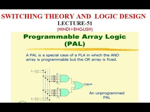 PROGRAMMABLE ARRAY LOGIC (PAL)-Lect-51