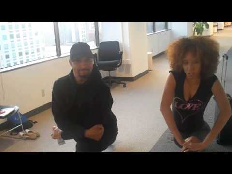 Yoga with Nikki Thomas and Nephew Tommy of the Steve Harvey Morning Show!