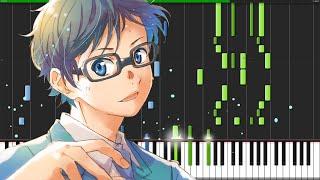 Hikaru nara - shigatsu wa kimi no uso (opening 1) [piano tutorial] (synthesia) // kimpianime