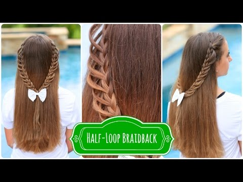HalfLoop Braidback  BacktoSchool Hairstyles  YouTube