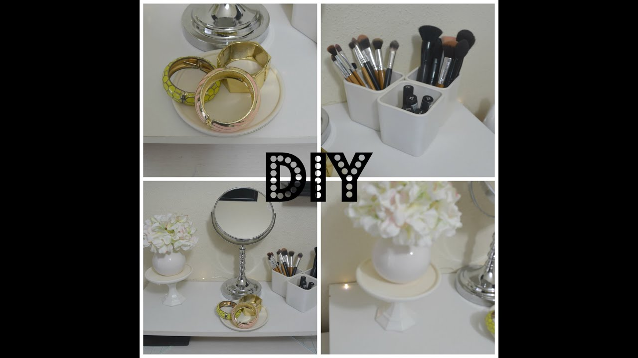 Diy 3 decoraciones para el tocador vanity decor youtube for Decoraciones de hogar