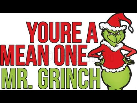 You're a Mean One Mr Grinch Cover