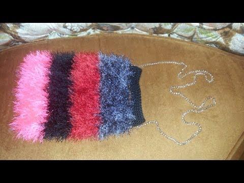 CROCHET How To #crochet this Shaggy / Furry Purse Tutorial #2 LEARN CROCHET