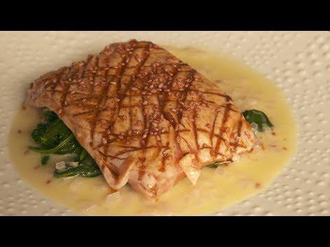 recette-:-saumon-grillé-aux-épinards---météo-à-la-carte