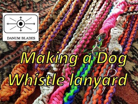 making-a-dog-whistle-lanyard
