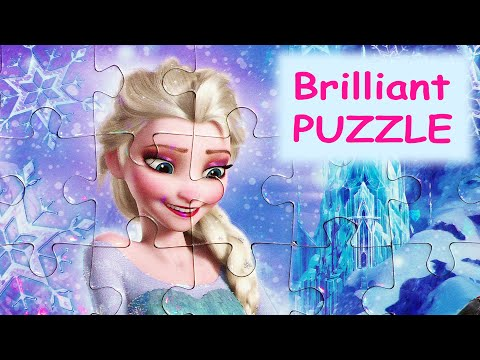 Clementoni BRILLIANT PUZZLE Disney Frozen Games 104-piece Kids Toddler Picture Puzzles De Play