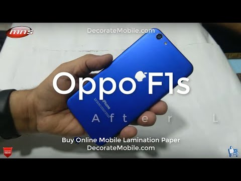 How to decorate Oppo F1s Mobile phone convert to iPhone x iPhone 7
