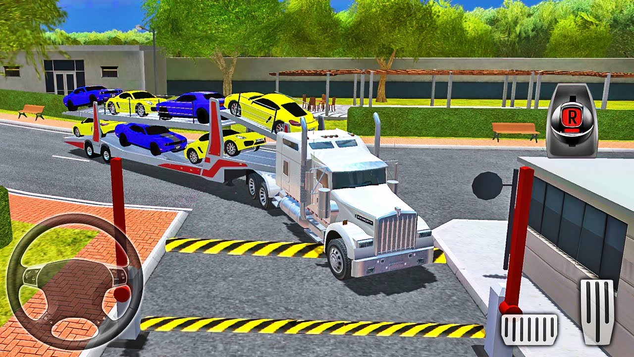 Car Transporter Truck Driving - Truck Driver: Depot Parking Simulator - Android Gameplay
