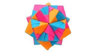 Многогранник из бумаги. Оригами Икосаэдр. Kusudama by Mitsunobu Sonobe
