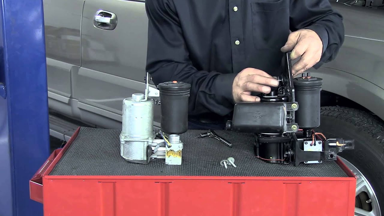 medium resolution of how to replace a lincoln navigator ford expedition air suspension compressor
