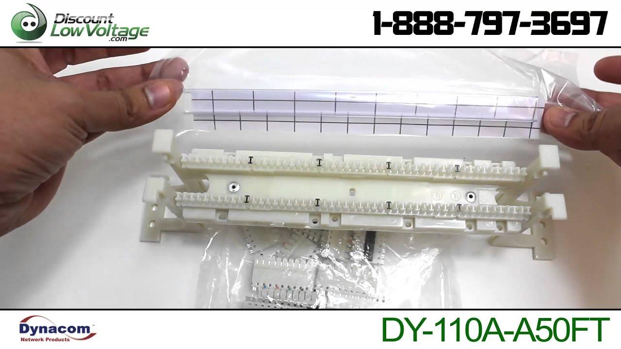 50 Pair 110 Wiring Block Kit w/ C5 Clips Video - YouTube