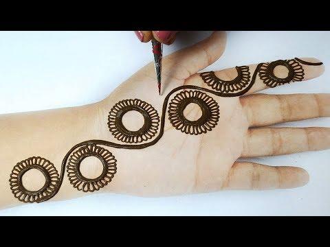 स्टाइलिश मेहँदी लगाना सीखे - Easy Front Hand Mehndi Designs  step by step | Mehndi for beginners