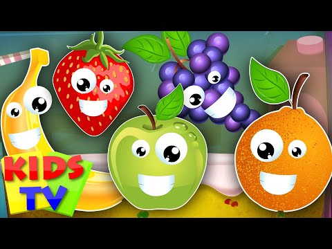 Thumbnail: five little fruits | learn fruits | fruits song | nursery rhymes | kids songs