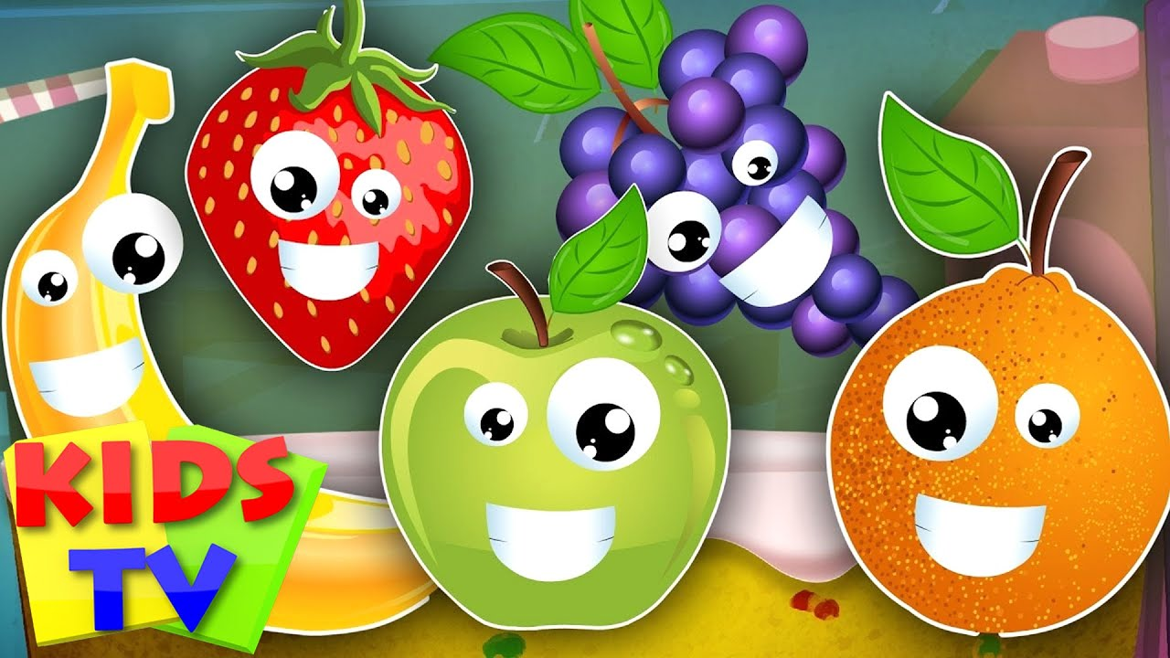 Five Little Fruits Learn Song Kids Songs Nursery Rhymes Tv You
