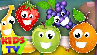 five little fruits | learn fruits | fruits song | kids songs | nursery rhymes kids TV