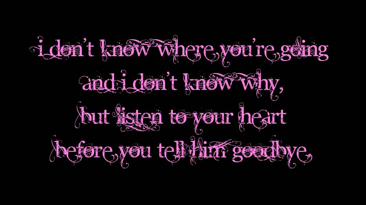 Dht heart listen lyric music