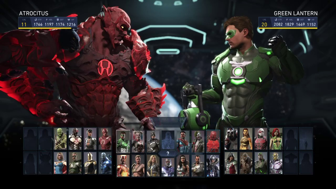 insalubre guerra viudo  Injustice 2 Atrocitus VS Green Lantern Hal Jordan Single Fight - YouTube