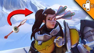 OUCH! Arrows in the EYEBALLS! Overwatch Funny & Epic Moments 714