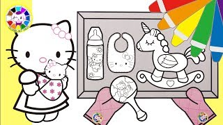 hello kitty go to baby shop with her toddler Handmade craft