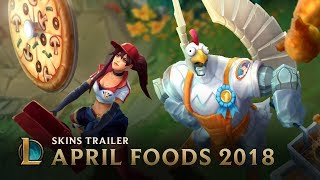 Fried Chicken and Pizza Delivery | April Foods Skins Trailer - League of Legends