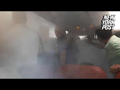 Airline passengers claim fog-like substance 'choked' them